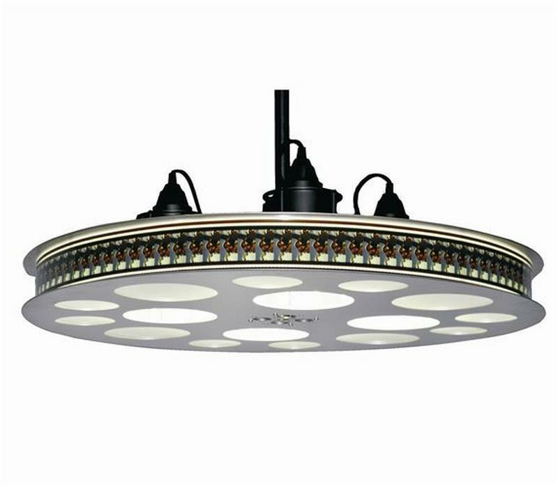 Home Theater Lighting Ideas Tips: 70mm Movie Reel Hanging Ceiling Light Fixture Home Theater