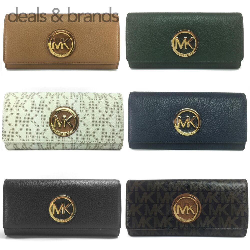 da8b54e573bb Details about NWT MICHAEL KORS Fulton Flap Continental Wallet in 6 Colors