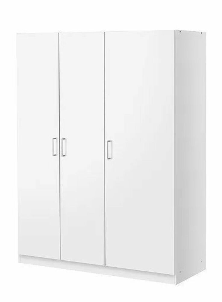 IKEA DOMBAS LARGE SIZE 3 DOOR WARDROBEWHITE INCLUDING 4 PIECES MIRROR BRAND NEW