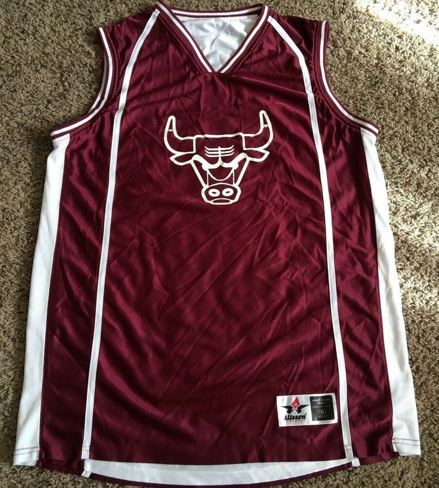 992ccd49b864 CHICAGO BULLS   15 NBA REVERSIBLE BASKETBALL JERSEY BY ALLESON MEN S X  LARGE