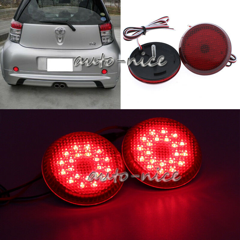 Details About 2x Red Lens Rear Per Reflector Led Brake Light For 2007 2010 Toyota Corolla