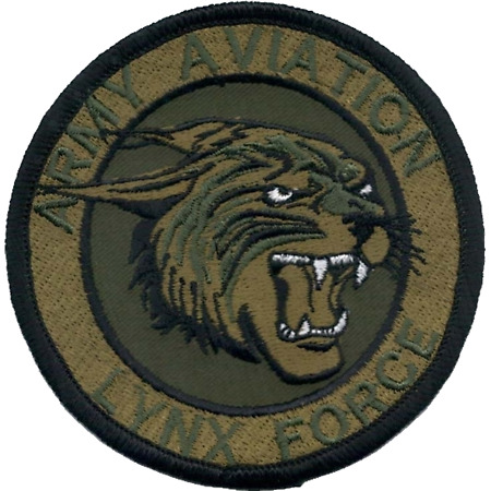 img-Army Aviation Lynx Force Army Air Corps AAC Subdued MOD Embroidered Patch