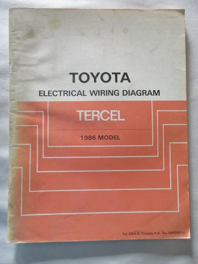 1986 Toyota Tercel Electrical Wiring Diagram Manual