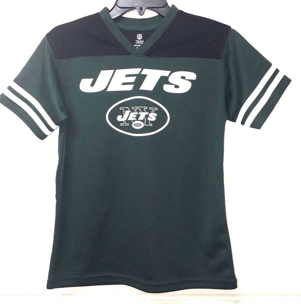 NWT NFL New York Jets Youth JERSEY Green and Black  M (10-12)  32e89380a