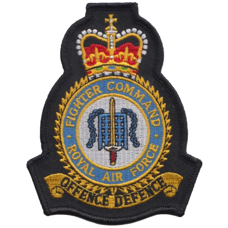 img-Fighter Command Royal Air Force RAF MOD Crest Embroidered Patch