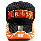 "San Francisco Giants Team Colors on ""BIG MESH"" 3D Direct Embroidered Hat Cap!"