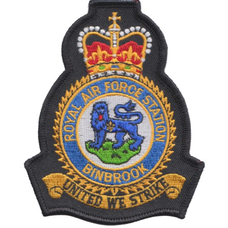 img-RAF Binbrook Royal Air Force MOD Crest Embroidered Patch