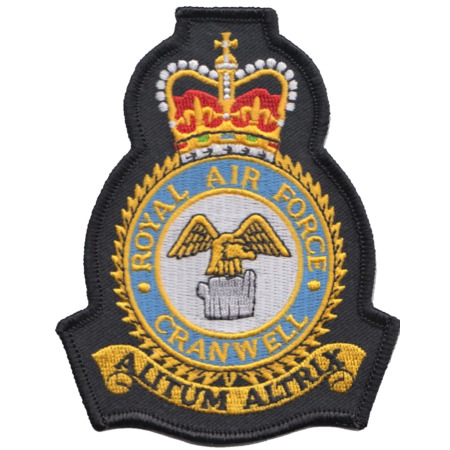img-RAF Cranwell Royal Air Force MOD Crest Embroidered Patch