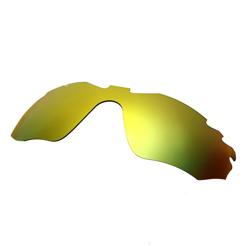 Hkuco For Half Jacket 2.0 Xl Gold Polarized Replacement Lenses And Black Earsocks Rubber Kit Selected Material Apparel Accessories