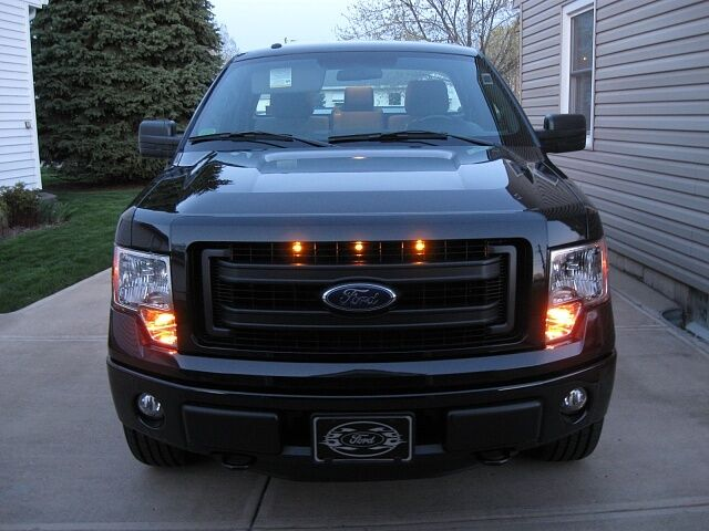 2013 2014 Ford F 150 Raptor Style Grill Amber Light Kit