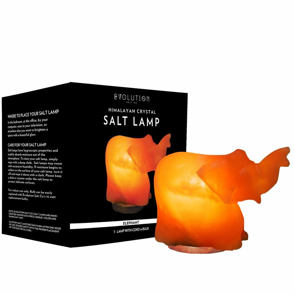 evolution salt elephant himalayan crystal salt lamp 1 count 609722585903 ebay - Evolution Salt Lamp