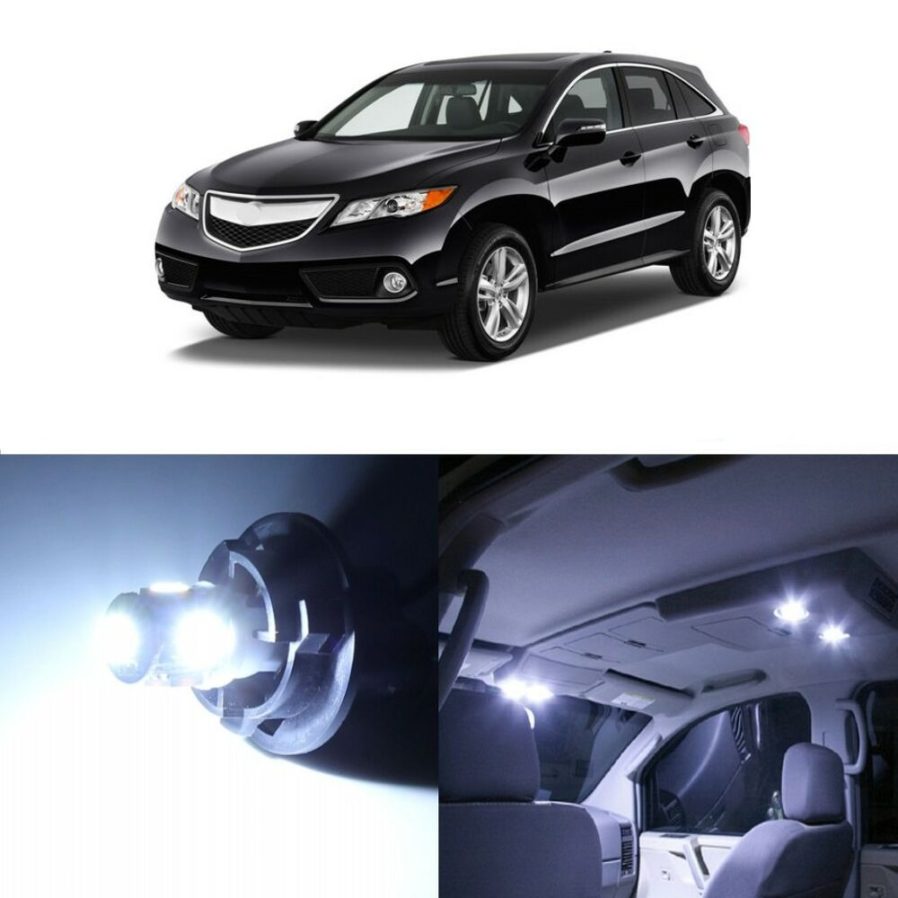 13 X White LED Interior Lights Package Kit For Acura RDX