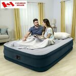 Inflatable Air Mattress Airbed Queen Size Self Inflating Built-In Electric Pump