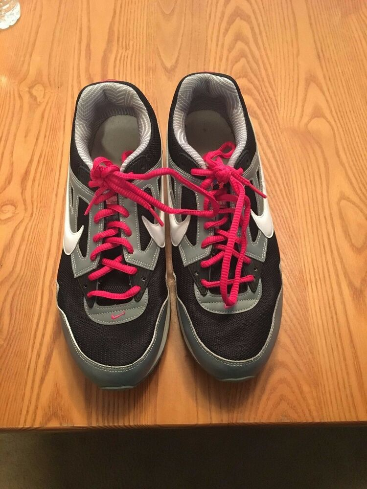 info for be6cc f54ce Details about Ladies Nike Air Max tennis shoes black white pink gray 12  women s athletic