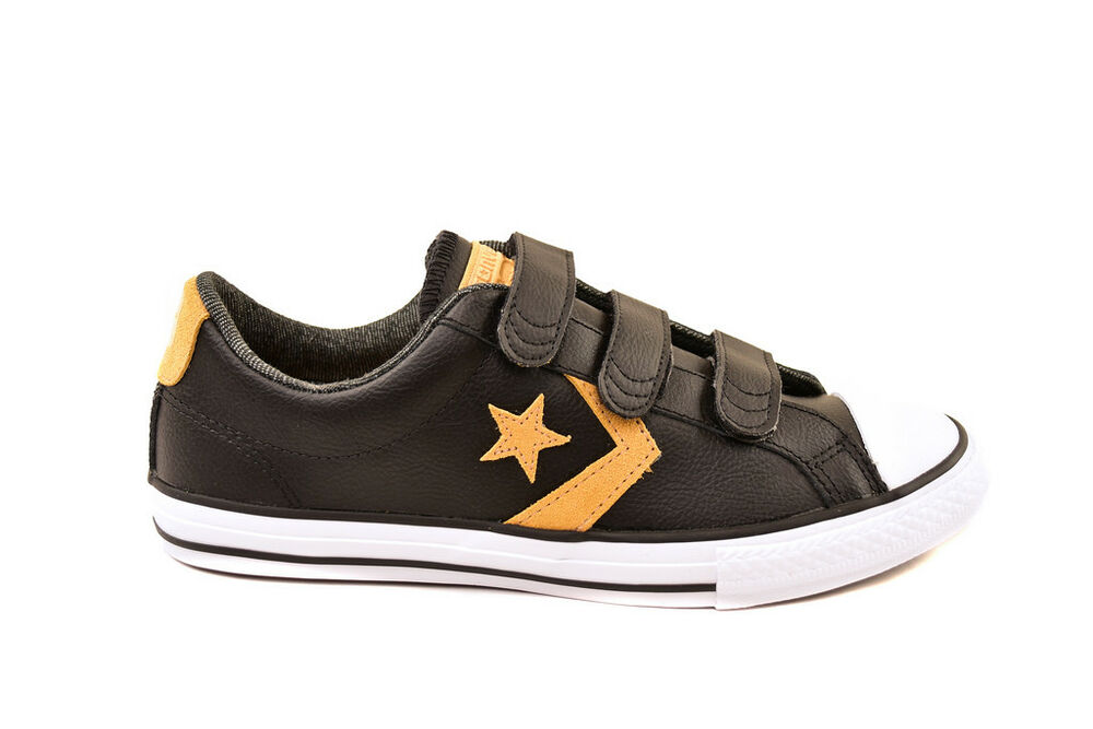 e56d3b7638f2 Details about Converse Junior Star Player OX 654320C Sneakers  Black White Soba UK3RRP£41 BCF81