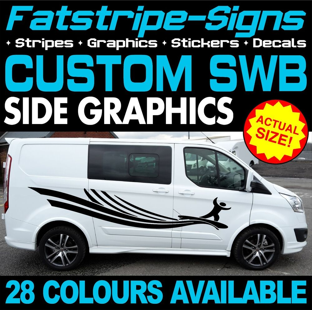 Details about ford transit custom swb graphics stickers stripes decals st m sport 2 2 day van
