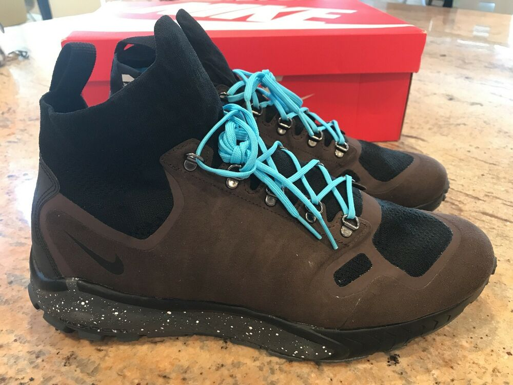 best service dca1a dfa77 Details about NIKE ZOOM TALARIA MID FK Size 11.5 BAROQUE BROWN GAMMA BLUE  BLACK 856957-200