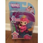 Fingerlings Baby Monkey BELLA Pink With Yellow Hair Includes Bonus Stand New NIB