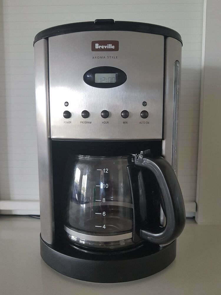 Breville BCM600 12 Cups Coffee Maker - Silver 9312432010559  deec7c9c5