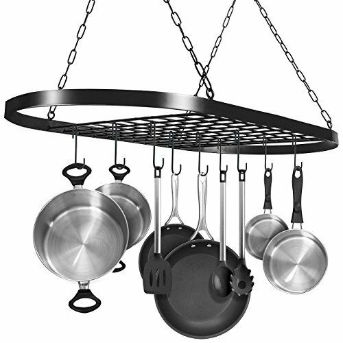 Pot and Pan Rack for Ceiling with Hooks 816485027728   eBay