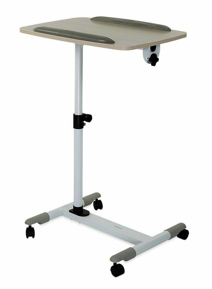 Mount It Rolling Laptop Desk Cart And Bedside Tray Height