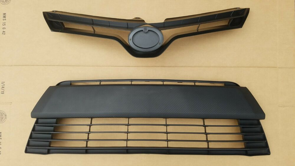 fits 2014 2016 toyota corolla ce le front bumper upper lower grille 2pc new ebay. Black Bedroom Furniture Sets. Home Design Ideas
