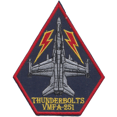 img-Marine Fighter Attack Squadron 251 VMFA-251 USMC Embroidered Patch