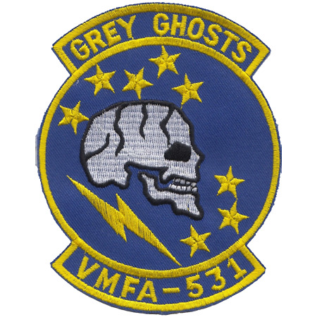 img-Marine Fighter Attack Squadron 531 VMFA-531 USMC Shaped Embroidered Patch