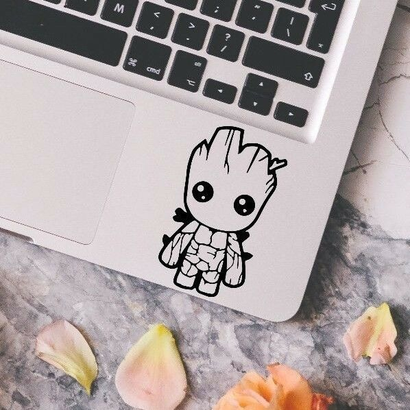 baby groot guardians of the galaxy macbook laptop car wall vinyl