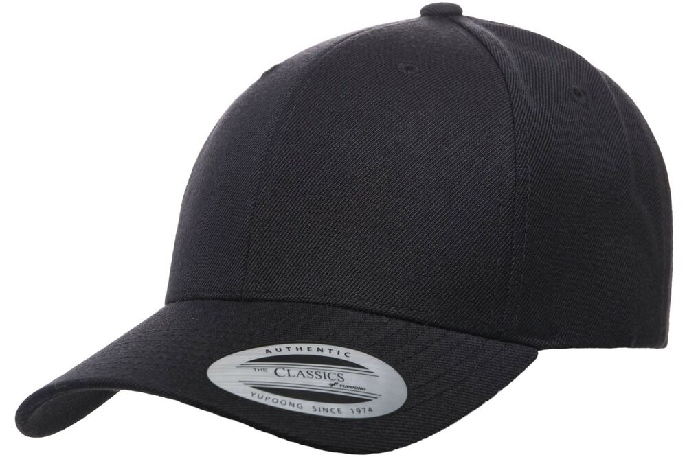 Details about Yupoong® 6789M Premium Curved Visor Adjustable Snapback Hat  Plain Blank Ball Cap 3c46efb083a