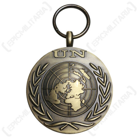 img-United Nations Medal - Repro UN Badge Insignia World Military Made In Britain