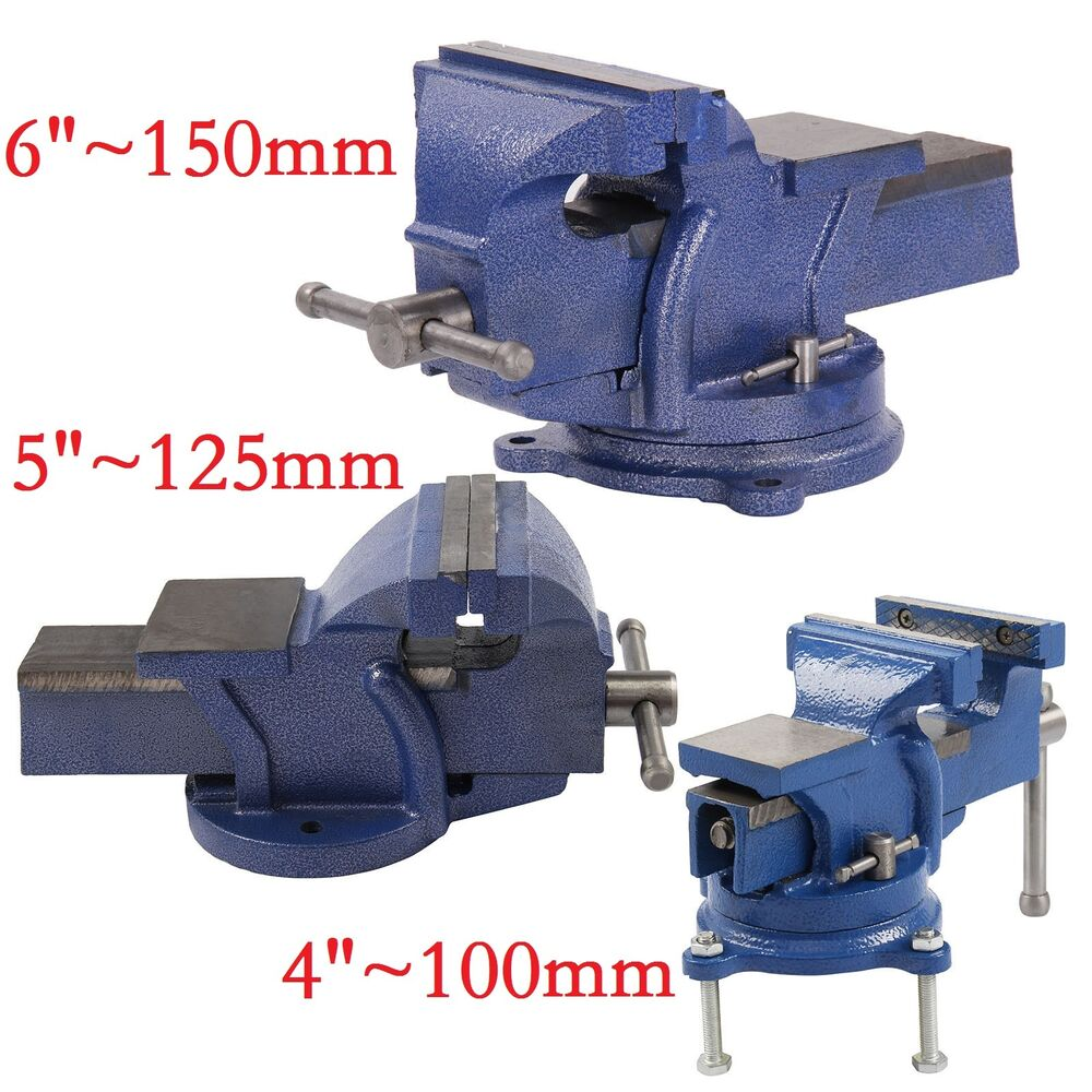 4 Quot 5 Quot 6 Quot Heavy Duty Work Bench Vice Engineer Jaw Swivel
