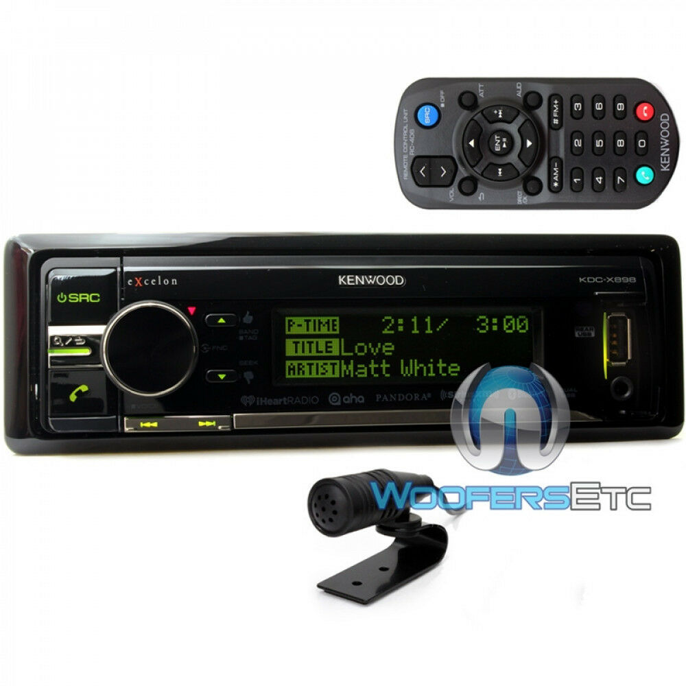 KENWOOD EXCELON KDC-X898 CD MP3 USB AUX BLUETOOTH SIRIUS XM READY ...