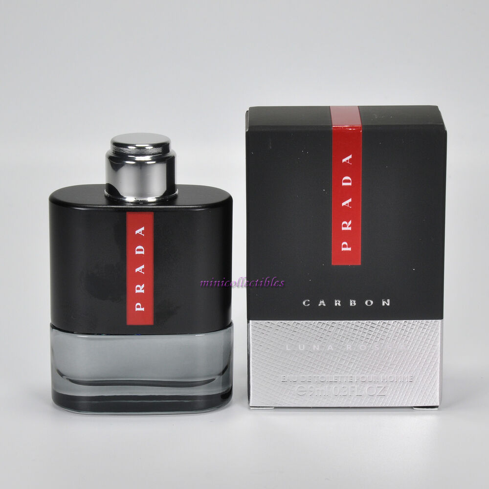 24ad88623 Details about PRADA LUNA ROSSA CARBON Eau de Toilette for Men 9 ml  Miniature Mini Perfume