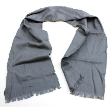img-GENUINE SWISS ARMY WOOL SCARF in GREY 127 x 24cm