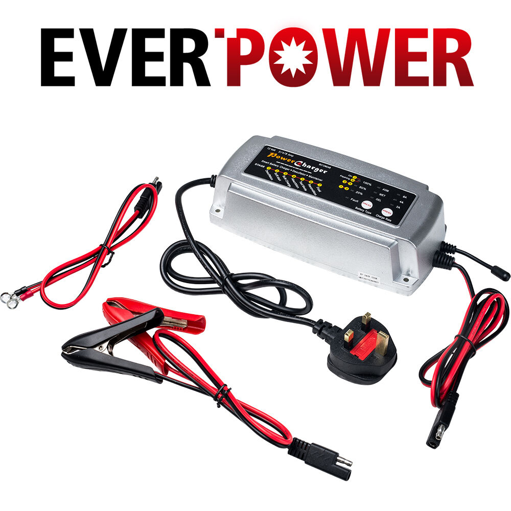 12v 5a Car Smart Battery Charger Conditioner Lead Acid 12v5a Automotive With Polarity Output Short Circuit Motorcycle Boat Ebay