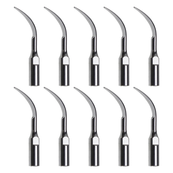 10PCS Dentista Tips INSERTI PUNTE PER ABLATORE Scaler SATELEC DTE GD1