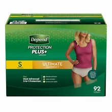 Depend FIT-FLEX Underwear for Women Size: Small - 92Ct - Free Shipping! No Tax!