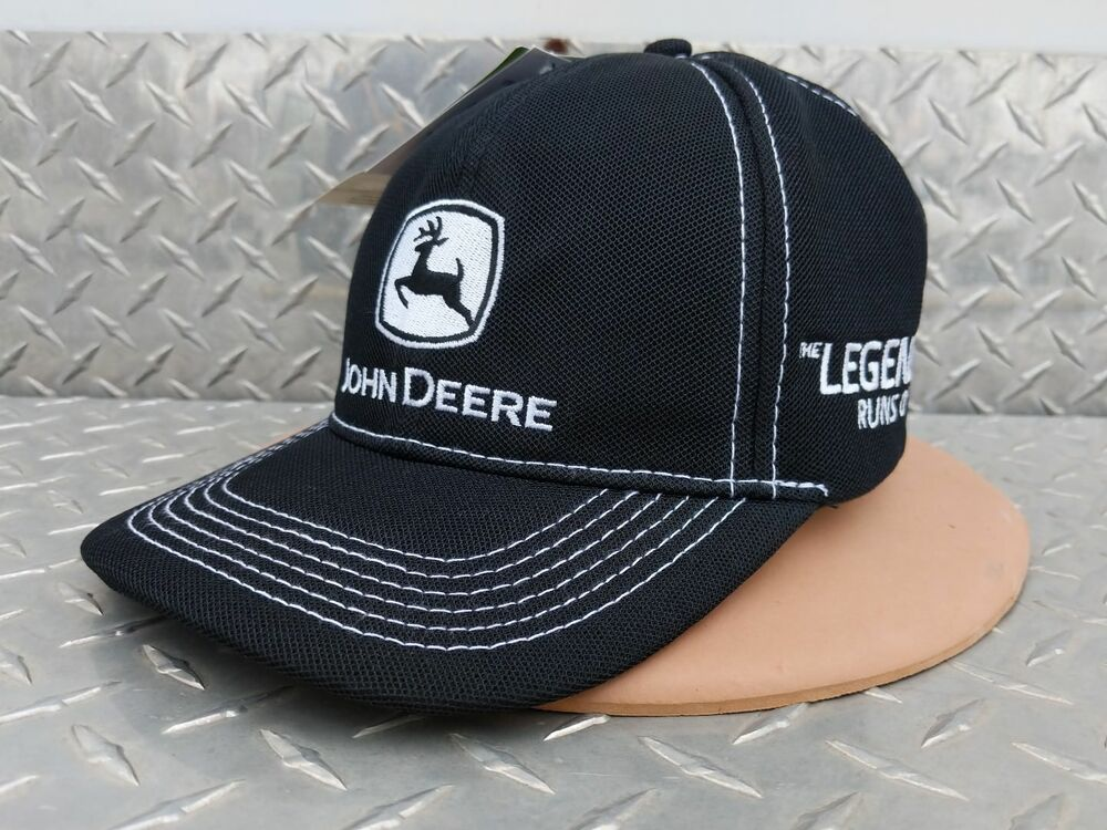 Details about NEW John Deere 100 year of tractors the legend Black micro  Mesh Cap JD Hat vhtf cb63df0b62c
