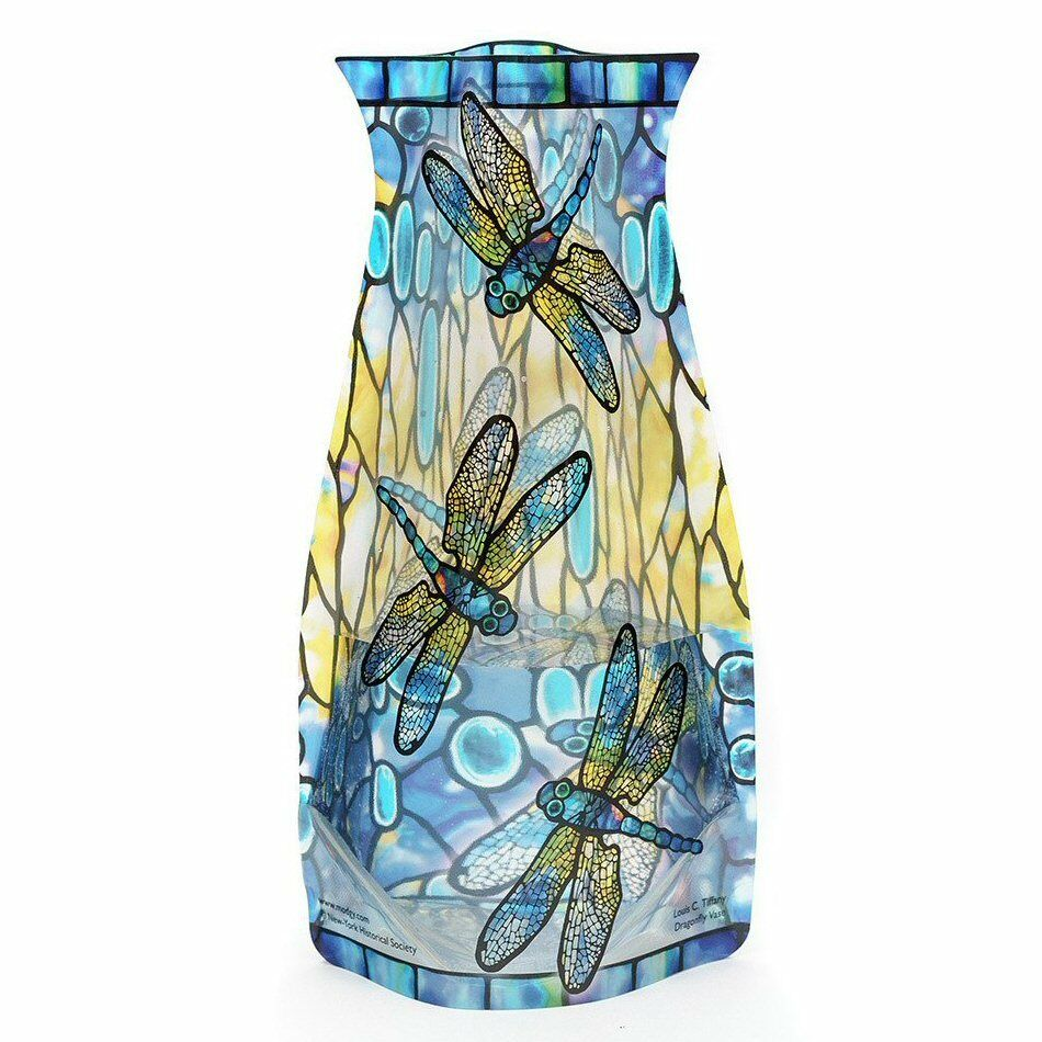 Details about Modgy Myvaz Collapsible / Expandable Flower Vase - Tiffany Dragonfly  sc 1 st  eBay & Modgy Myvaz Collapsible / Expandable Flower Vase - Tiffany Dragonfly ...