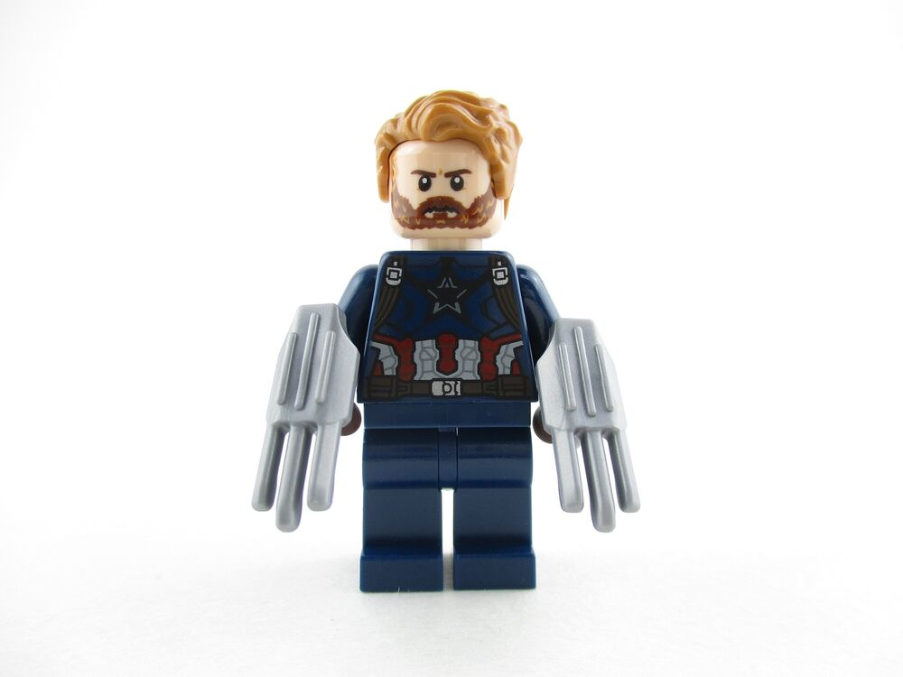 Lego infinity war captain america minifigure 76101 mini fig avengers ebay - Lego capitaine america ...