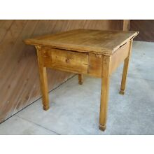 18th C OLD EARLY PRIMITIVE KITCHEN WORK FARM TABLE RARE LEAF EXT. TAVERN DINING