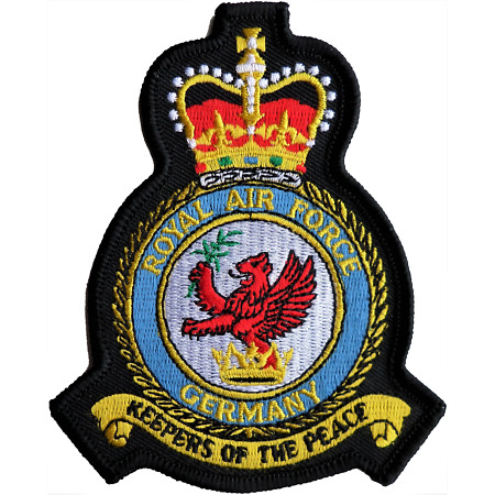 img-RAF Germany RAFG Command Royal Air Force MOD Crest Embroidered Patch