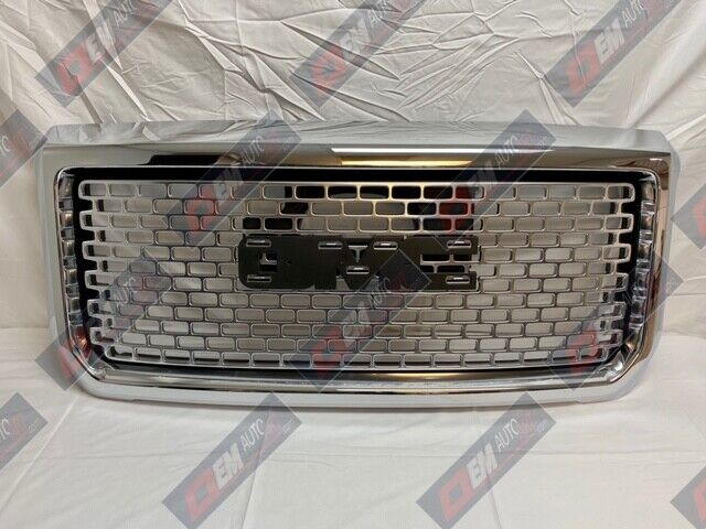 2015-2019 GMC Sierra 2500 HD-3500 HD GM OEM Chrome HD Denali Grille NEW 23155056 | eBay