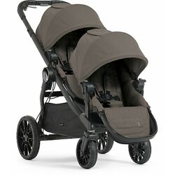 Baby Jogger City Select LUX Double Stroller in Taupe Brand New Free Ship!!