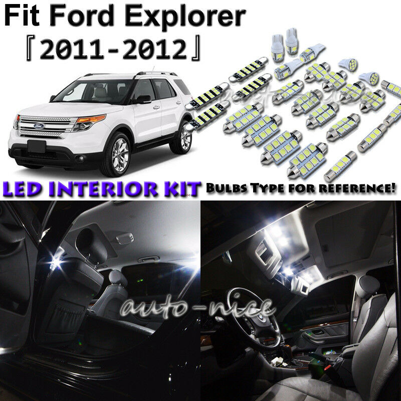 Details About 9x White Led Interior Lights Package Kit For 2017 Ford Explorer