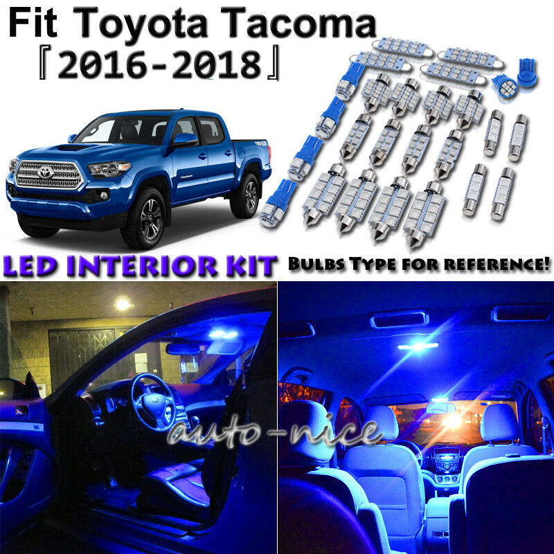 Details About 12x Blue Led Interior Lights Package Kit For 2016 2017 2018 Toyota Tacoma