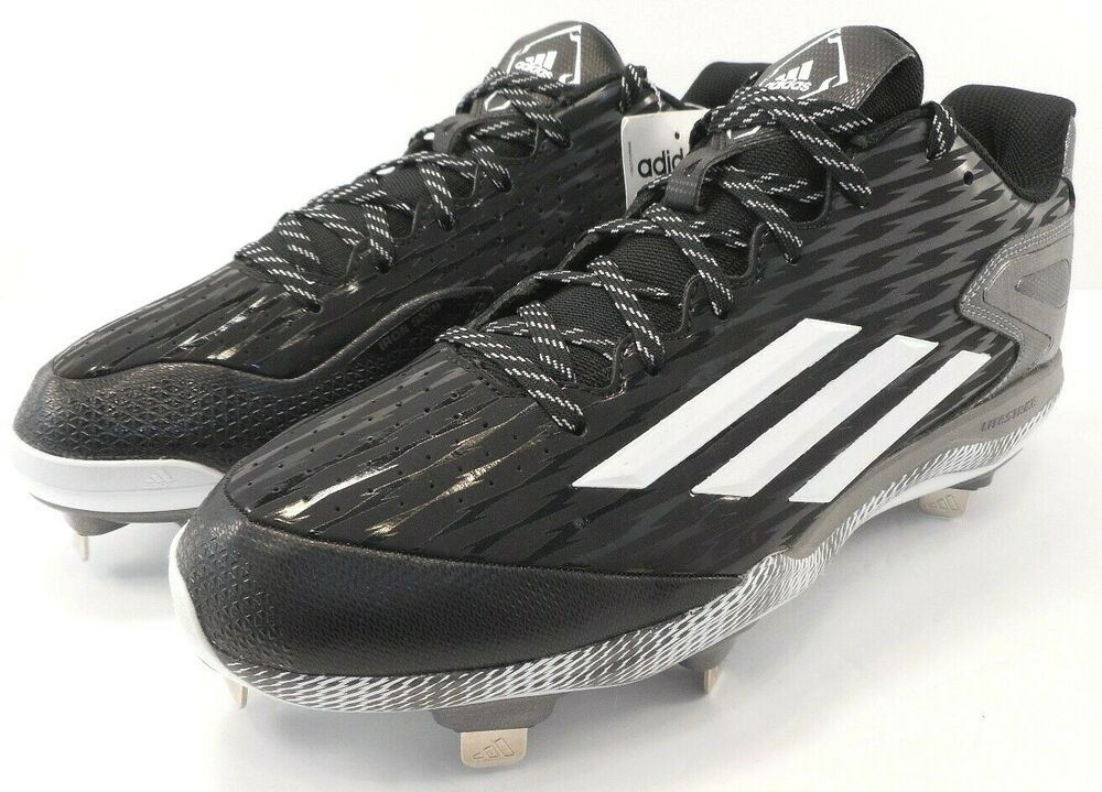 huge selection of 69272 7d15a Details about Adidas Mens Power Alley 3 Low Metal Baseball Cleats Black S84762  Size 11.5