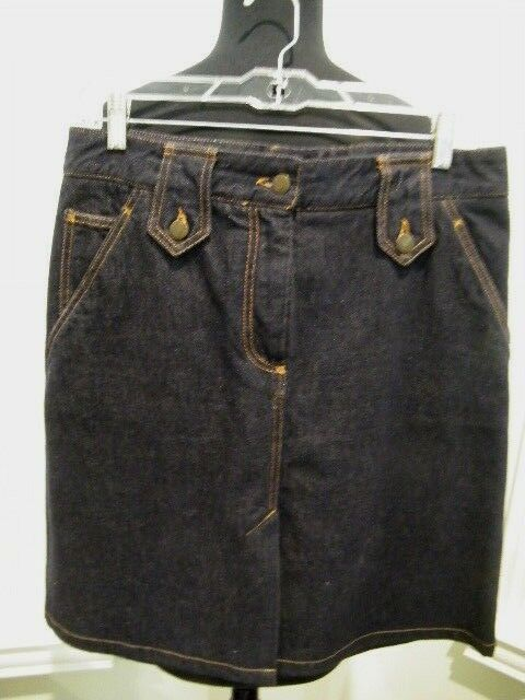 274bec1389 Details about DOLCE & GABBANA made in ITALY NWOT SZ 42 DARK BLUE COTTON  DENIM MINI SKIRT