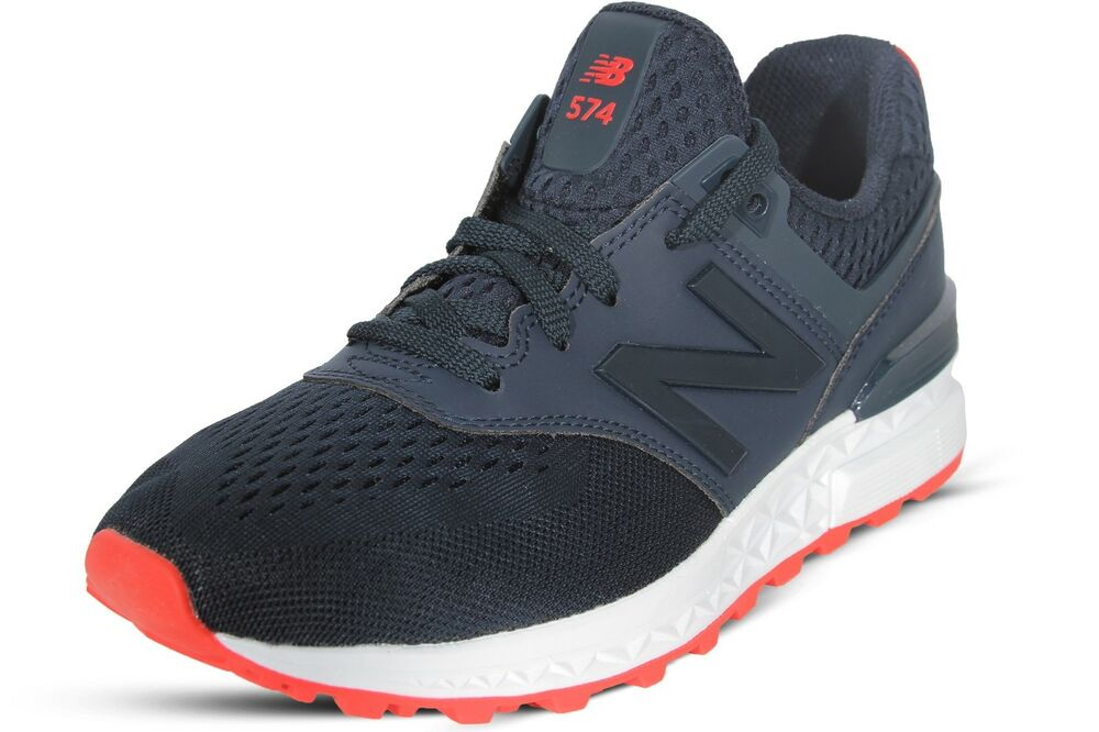 Details about New Balance Women s Shoes Blue Red 574 Sport Classic Running  Sneakers WS574EMA 7772c4952